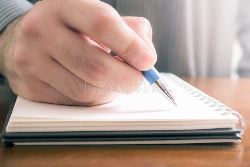No Zapomina pojęcia Pisać ważnych rzeczach Zestrzela W Notepad zdjęcie stock