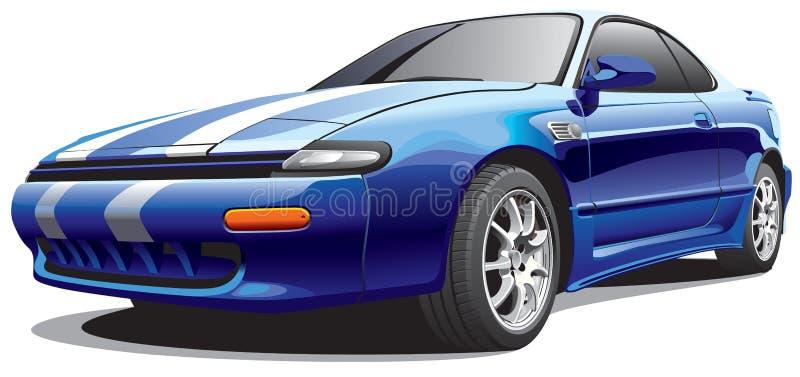 No3 dell'automobile della droga illustrazione vettoriale