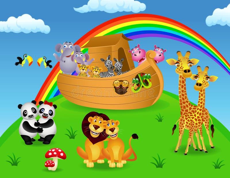 Download Noah ark stock vector. Image of history, animal, hippo - 20746391
