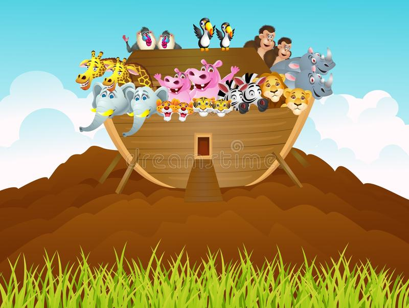 Download Noah ark stock illustration. Image of bible, lion, animal - 24690408