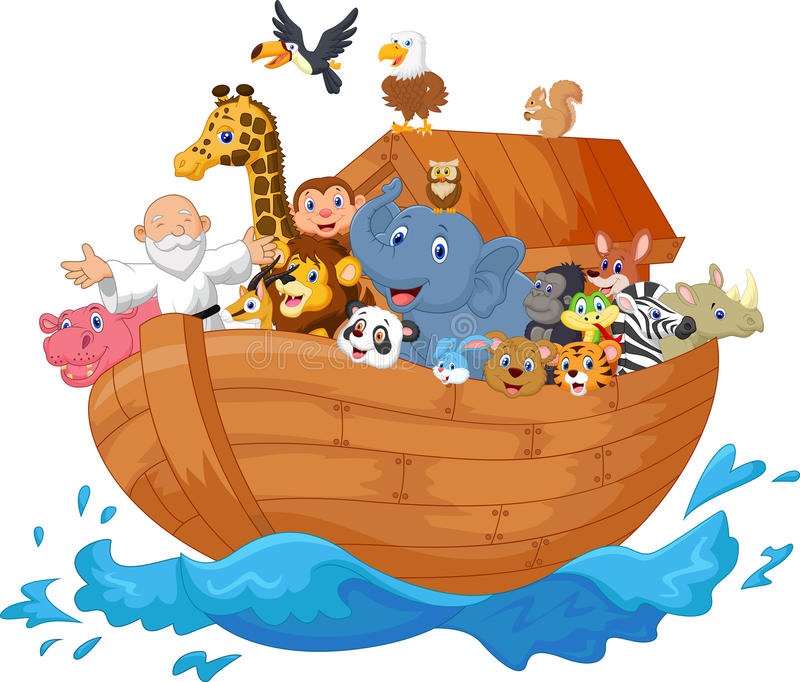 Noah ark cartoon stock illustration