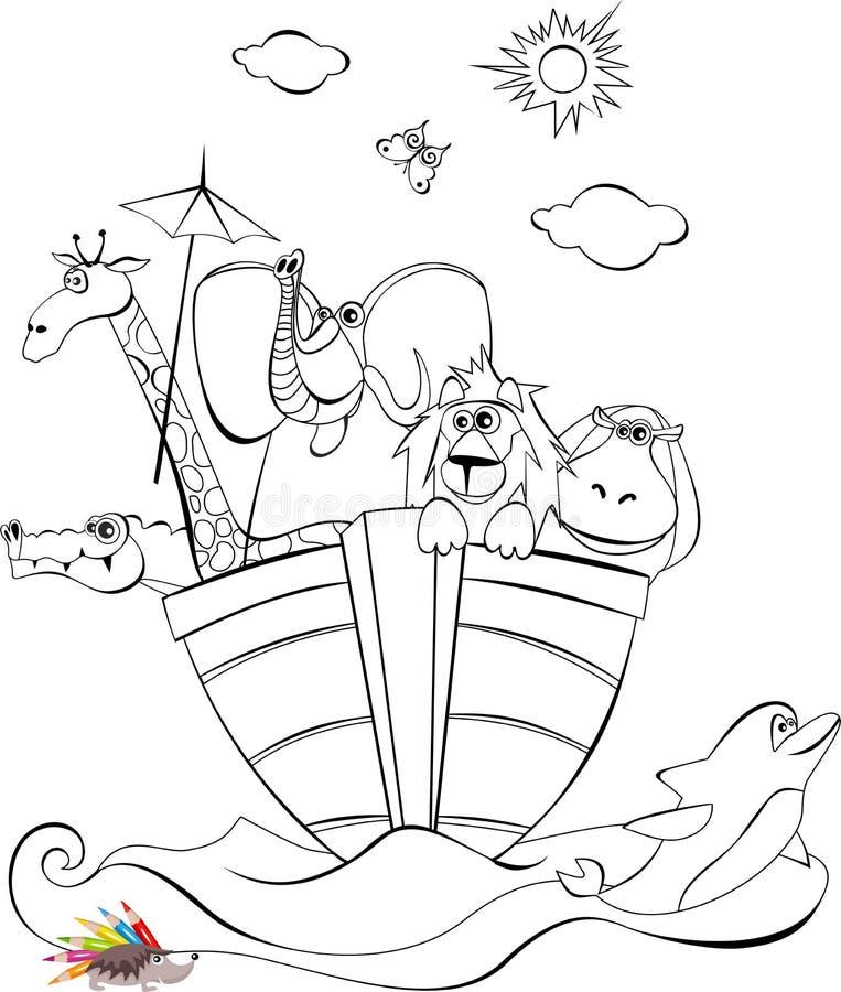 Noah boog royalty-vrije illustratie