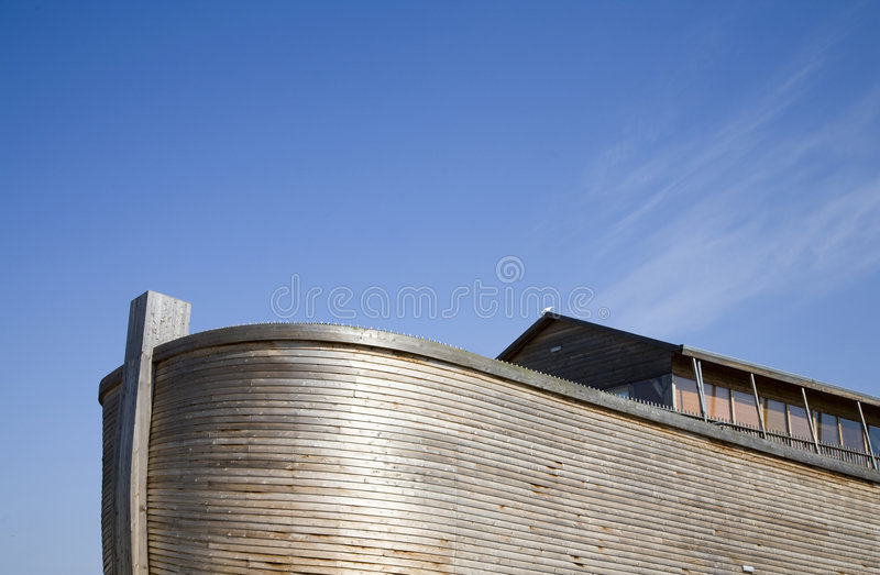 Noah's Ark 1. Replica of Noah's Ark build in Holland royalty free stock photos