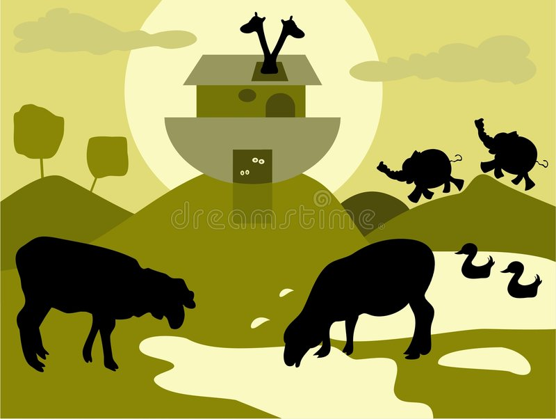 Noah's Ark. Illustration stock illustration