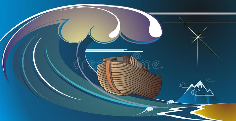 Noah's Ark. (Hebrew: תיבת נח, Tevat Noach; Arabic: سفينة نوح, Safina Nuh) is the vessel, which, according to the royalty free illustration