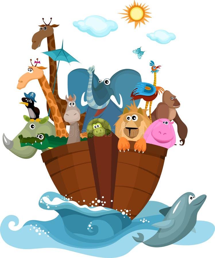 Noah's Ark. Vector Illustration of a Noah's Ark vector illustration