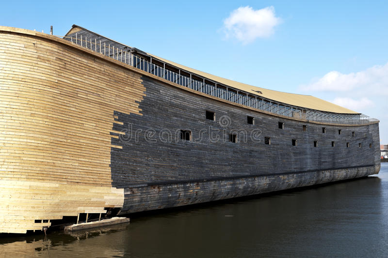 Noah's Ark. Two years ago, Johan Huibers in the Netherlands, start building Noah's Ark in exact measurement's. The ark is 135 meters long, 23 meters high and 30 royalty free stock photo