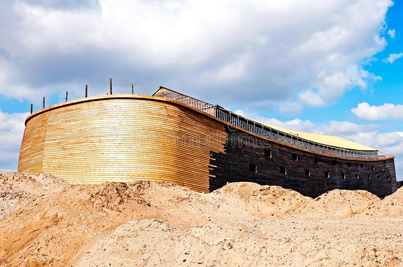 Noah's Ark. Two years ago, Johan Huibers in the Netherlands, start building Noah's Ark in exact measurement's. The ark is 135 meters long, 23 meters high and 30 royalty free stock image