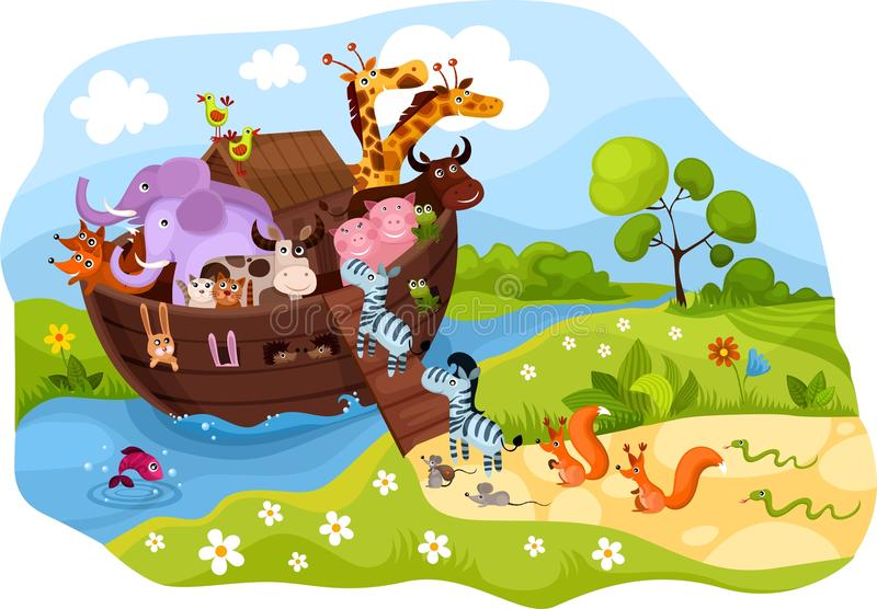 Noah's Ark. Vector illustration of a Noah's Ark