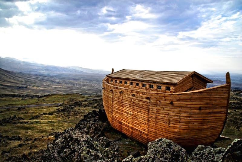 Noah's Ark. On Mount Ararat. Ark is generated digitally stock illustration