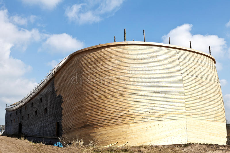 Noah's Ark. In real sizes build by Johan Huibers in Dordrecht Holland royalty free stock images
