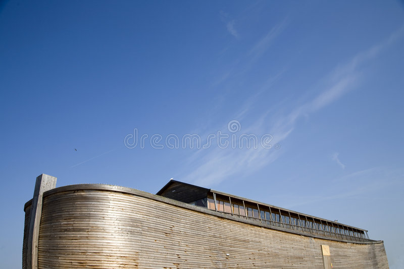 Noah's Ark 2. Replica of Noah's Ark build in Holland royalty free stock images