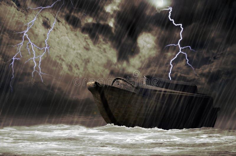 Noah's ark. On streams, under the universal flood