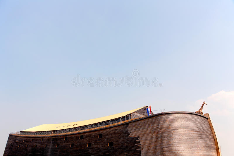 Noah's Ark. Replica of Noah's Ark in the Netherlands royalty free stock photo