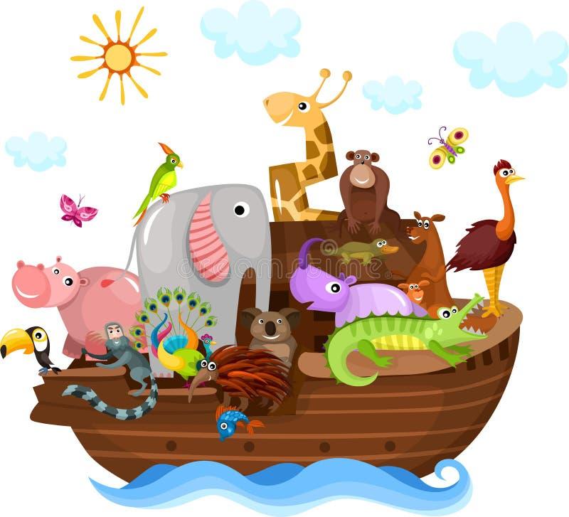 Noah's Ark. Vector illustration of a Noah's Ark royalty free illustration