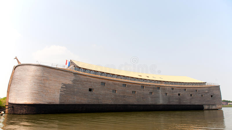 Noah's Ark. Replica of Noah's Ark in the Netherlands stock photo