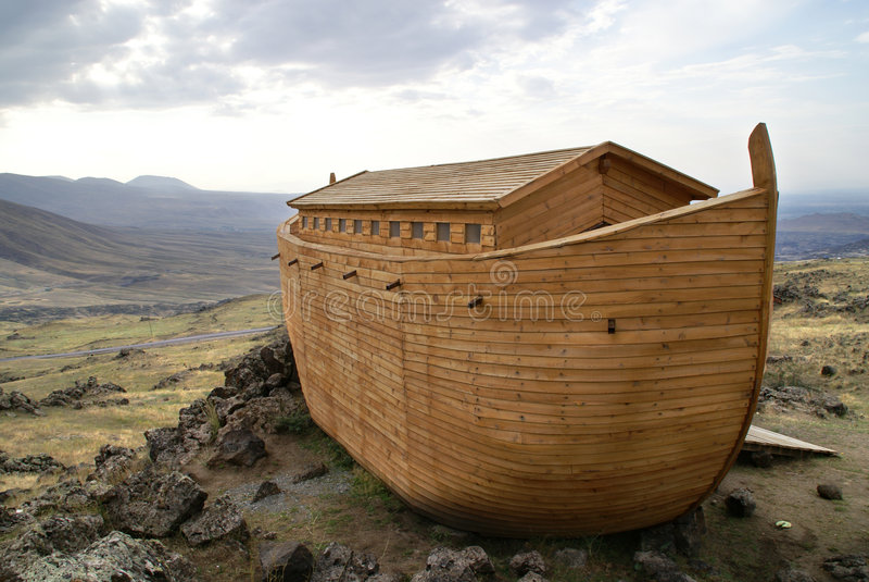 Noah's Ark. On Mount Ararat. Ark is generated digitally vector illustration