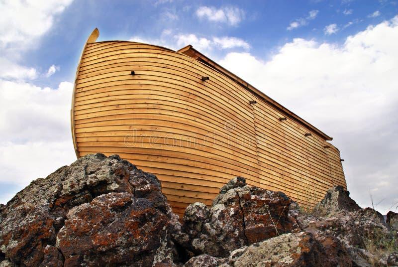 Noah's Ark. On Mount Ararat. Ark is generated digitally royalty free illustration