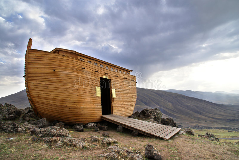 Noah's Ark. On Mount Ararat royalty free illustration