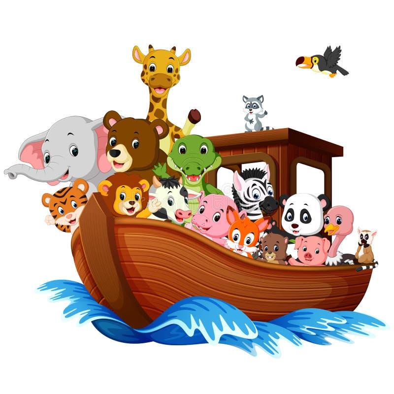Noah`s Ark cartoon. Illustration of Noah`s Ark cartoon vector illustration