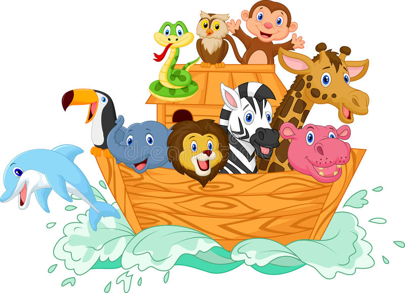 Noah's Ark cartoon royalty free illustration
