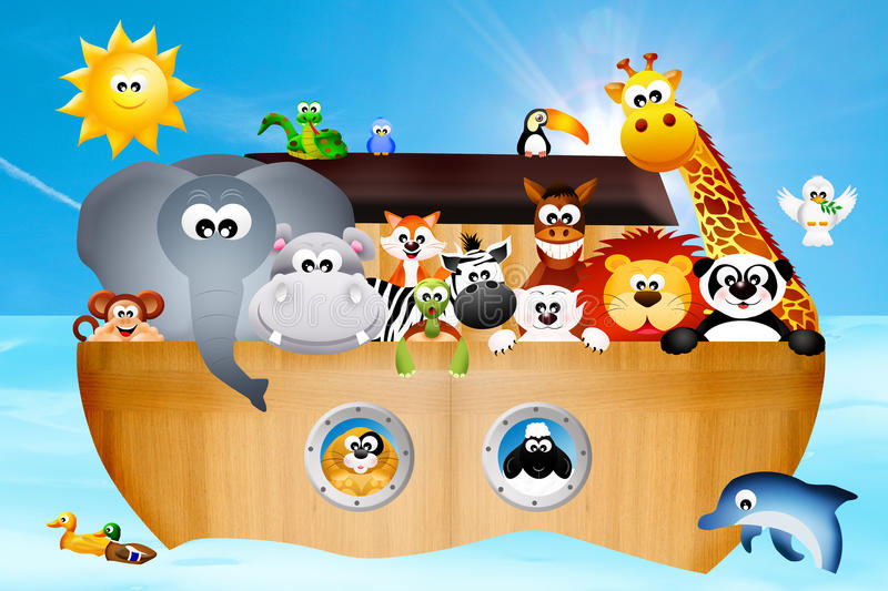 Download Noah's ark stock illustration. Image of bear, animal - 36206380