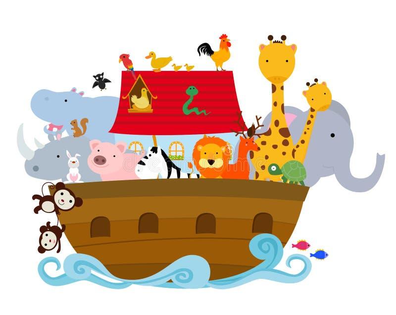 Noah's ark. Illustration of a cute Noah's ark stock illustration