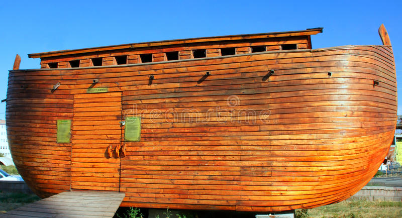 Noah's ark model. Constructed Noah's ark model in Tukey stock photo