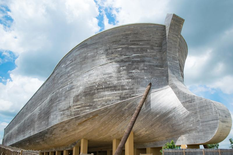 Life Sized Noah`s Ark. The life sized replica of Noah`s Ark at the Ark Encounter in Williamstown, KY royalty free stock images