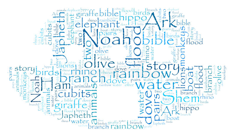 Download Noah's Ark Word Cloud stock illustration. Illustration of giraffe - 28834606
