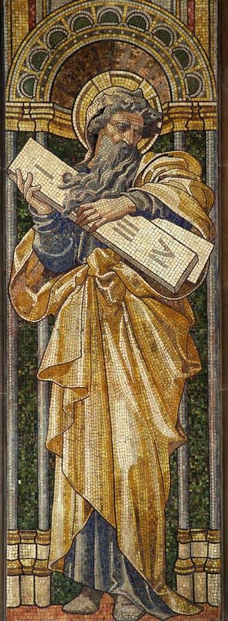 Noah y los diez mandamientos imagen de archivo libre de regalías