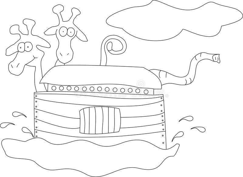 Noahs Arche stock abbildung