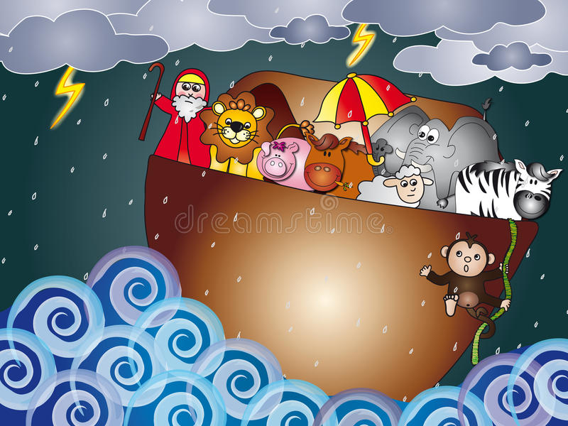 Noahs Ark stock illustration