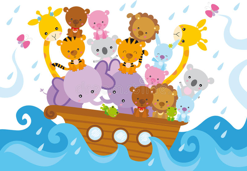 Noahs ark vector illustration