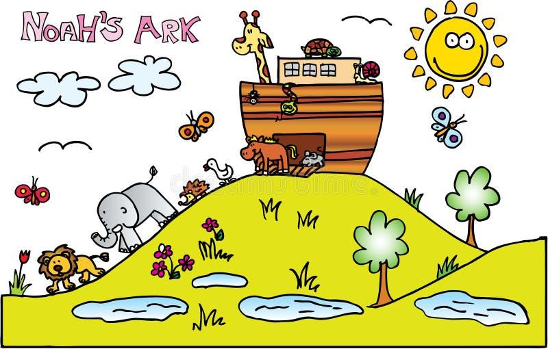 Noahs Ark royalty free illustration