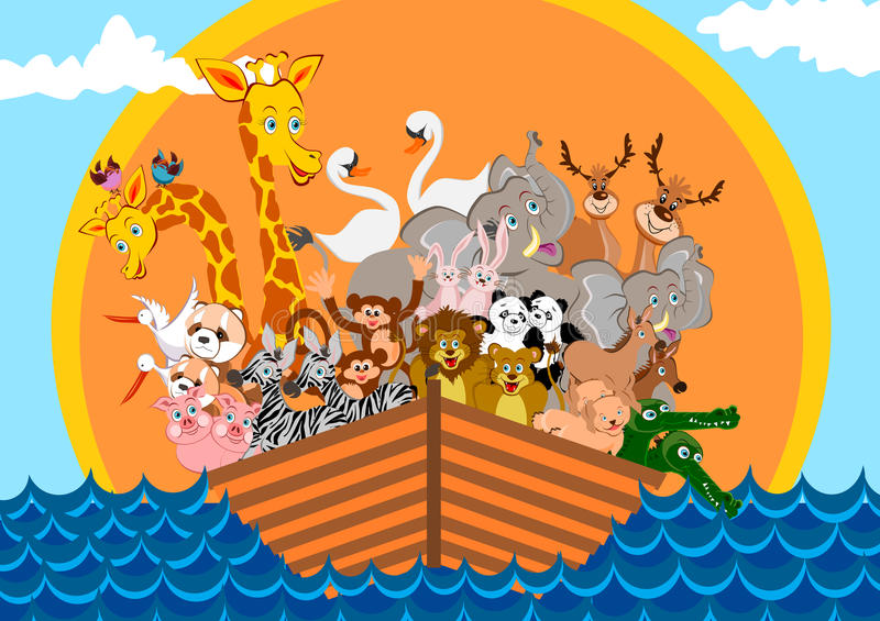 Noah Ark royalty free illustration