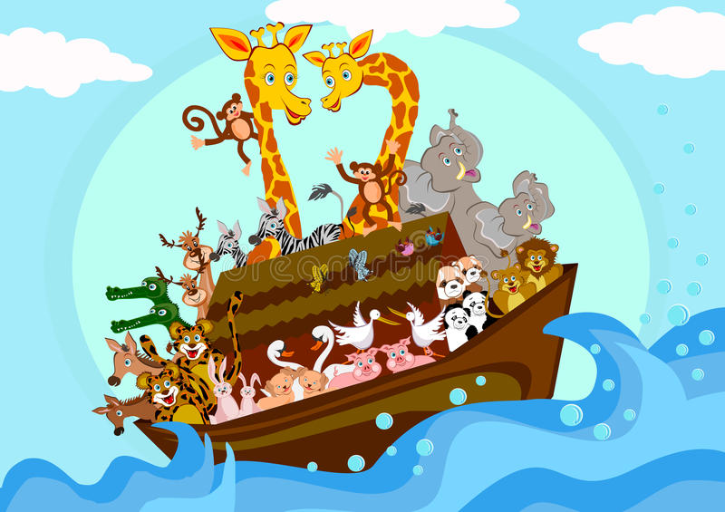 Noahs Ark royalty free illustration