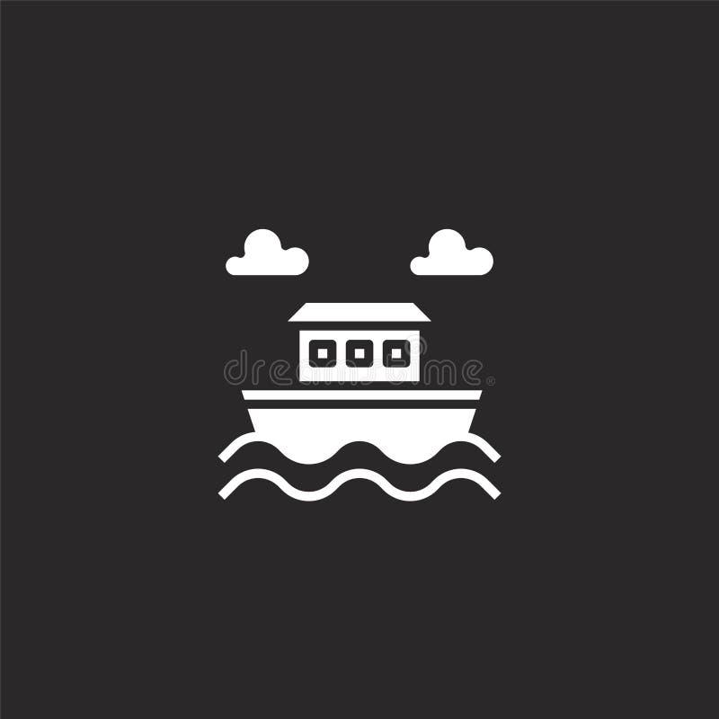 noahs ark icon. Filled noahs ark icon for website design and mobile, app development. noahs ark icon from filled christian vector illustration