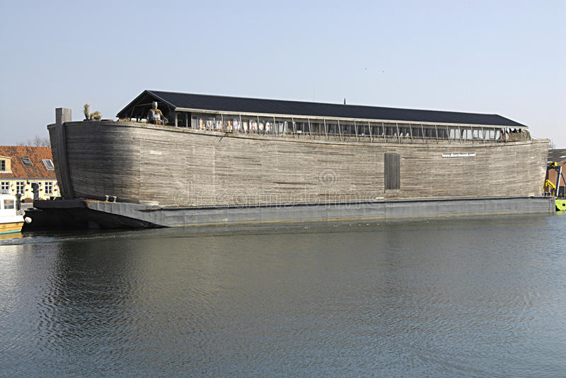 Noahs ark ship. KOGE (K�GE) /DENMARK- Noahs ark ship duck at Koge danish provience town Noahs ark is floating bible stories about Noah and his ark animals royalty free stock photography