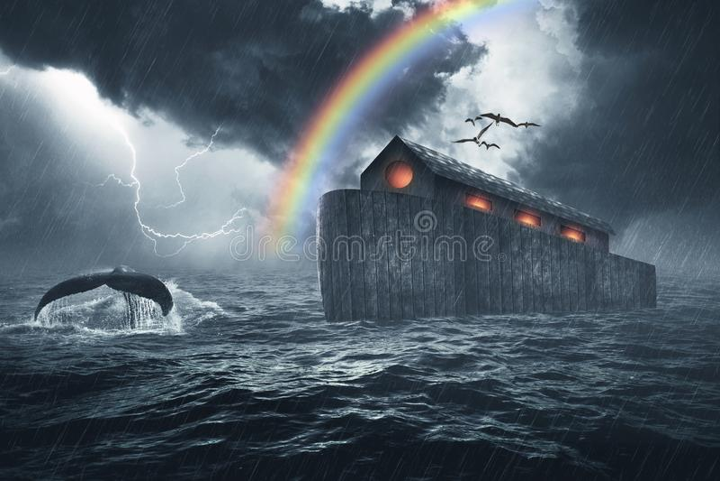 Noahs berättelse för tillflyktbibel arkivfoton