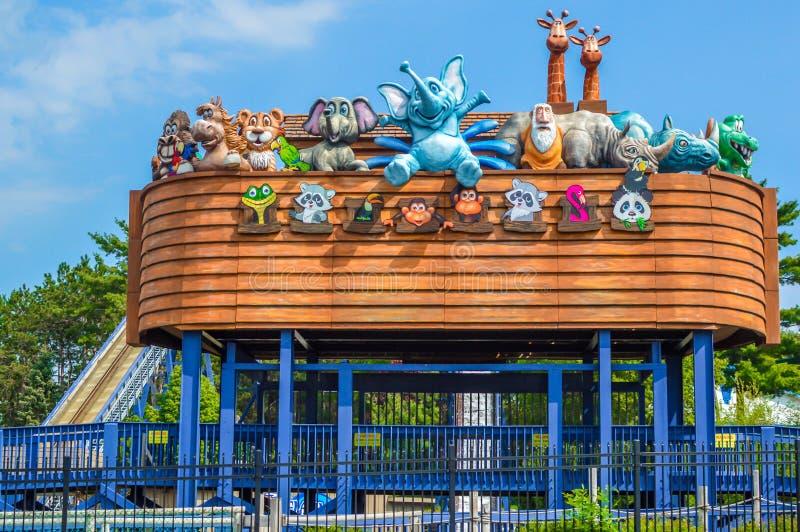 Noahs tillflykt Waterpark - Wisconsin Dells arkivfoto