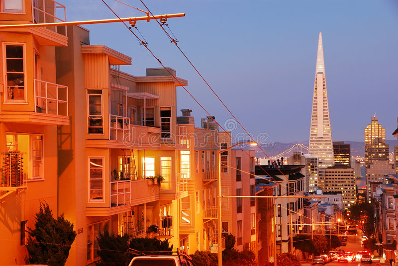 Nob Hill in San Francisco stock photography