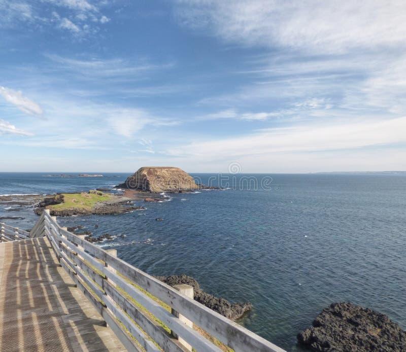 The Nobbies tourist precinct and board walk Phillip Island stock image