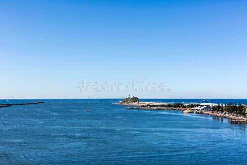 Nobby s海滩-新堡 免版税库存照片