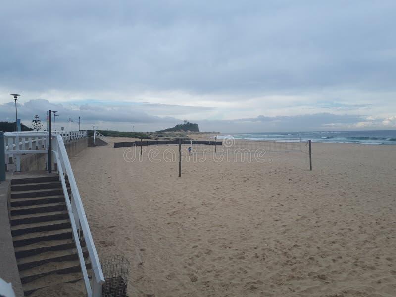Nobby& x27; s plażowy i przylądkowy Newcastle Australia obraz royalty free