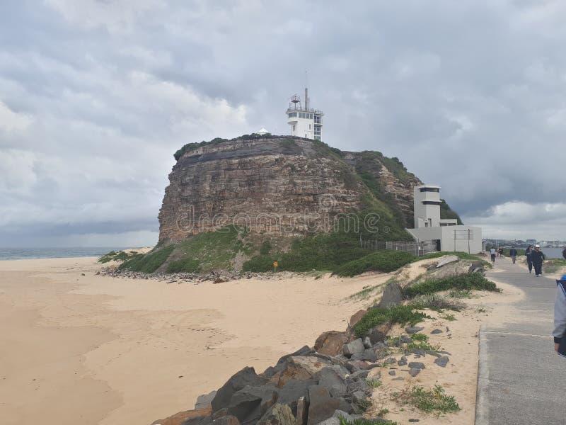 Nobby& x27; s plażowy i przylądkowy Newcastle Australia zdjęcie stock
