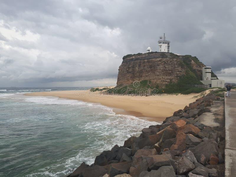 Nobby& x27; s plażowy i przylądkowy Newcastle Australia obrazy stock