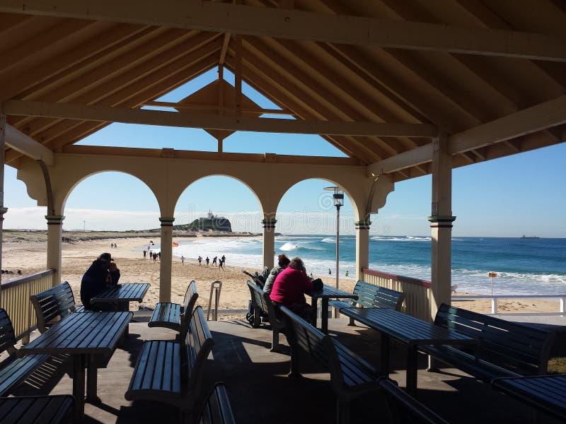 Nobbys plaża, Newcastle Australia zdjęcia stock