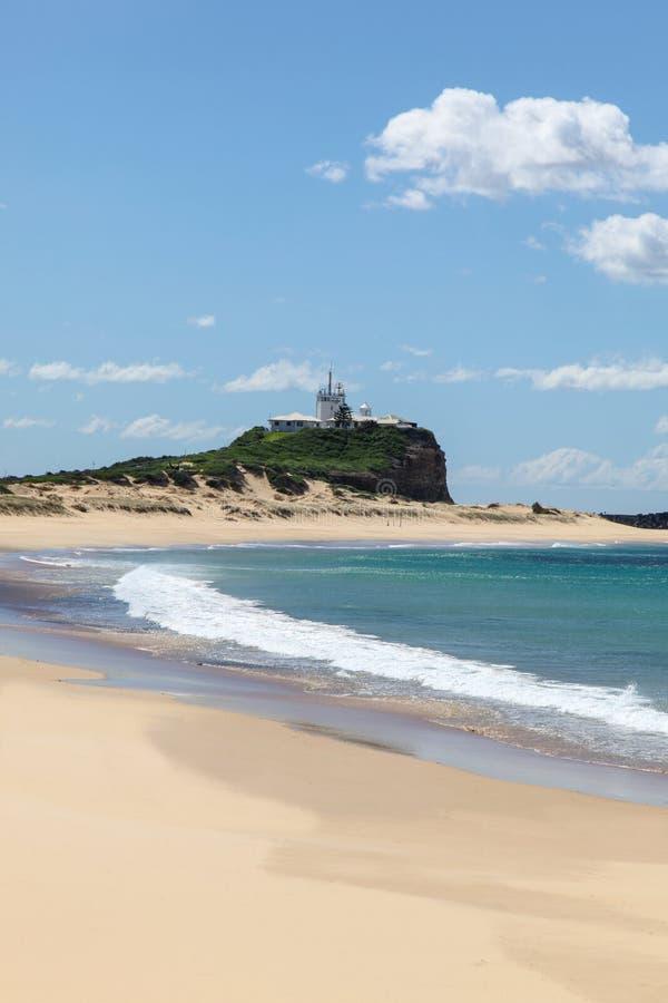 Nobbys Strand - Newcastle Australien stockfotografie