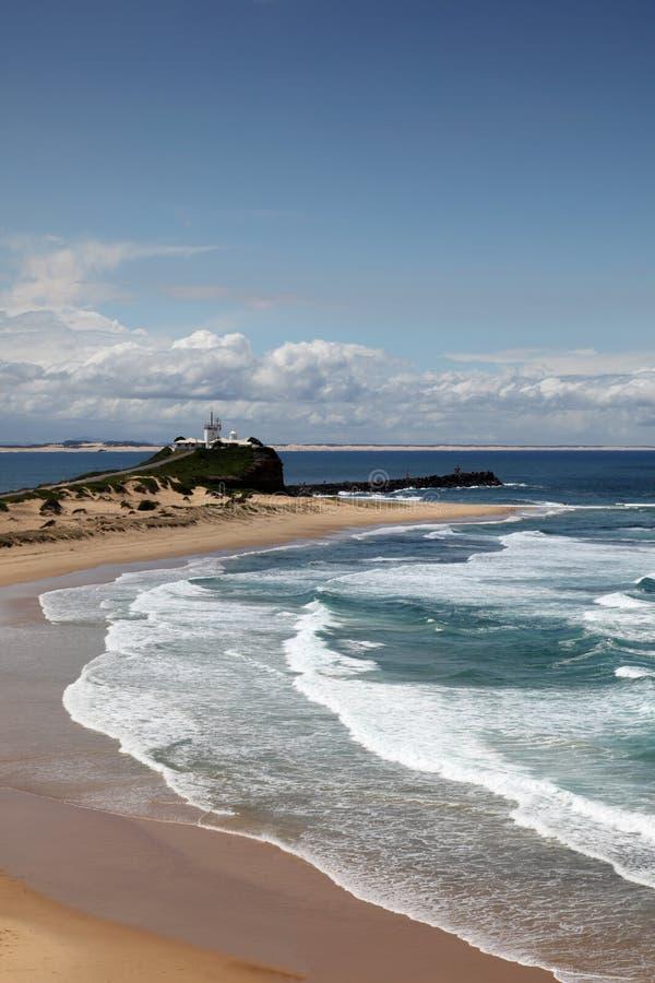 Nobbys Strand Newcastle Australien stockfotografie
